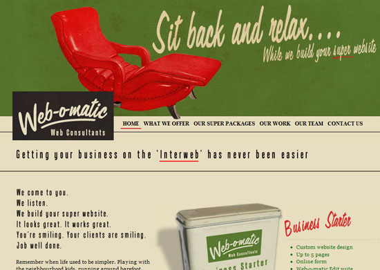 webomatic 40 Vintage and Retro Web Design Inspirations