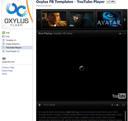 youtube player 40 Facebook Fan Page Designs and Practices