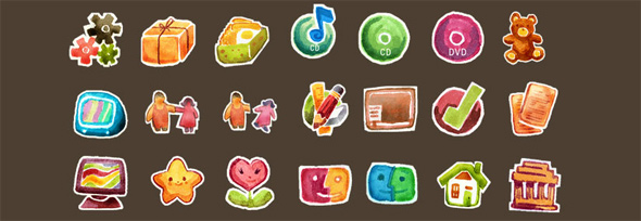 09 free hand drawn icon sets1 30 Creative Free Hand Drawn Icon Sets