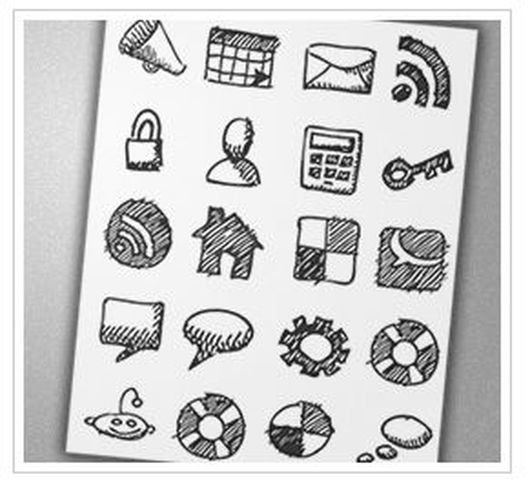 1821 30 Creative Free Hand Drawn Icon Sets