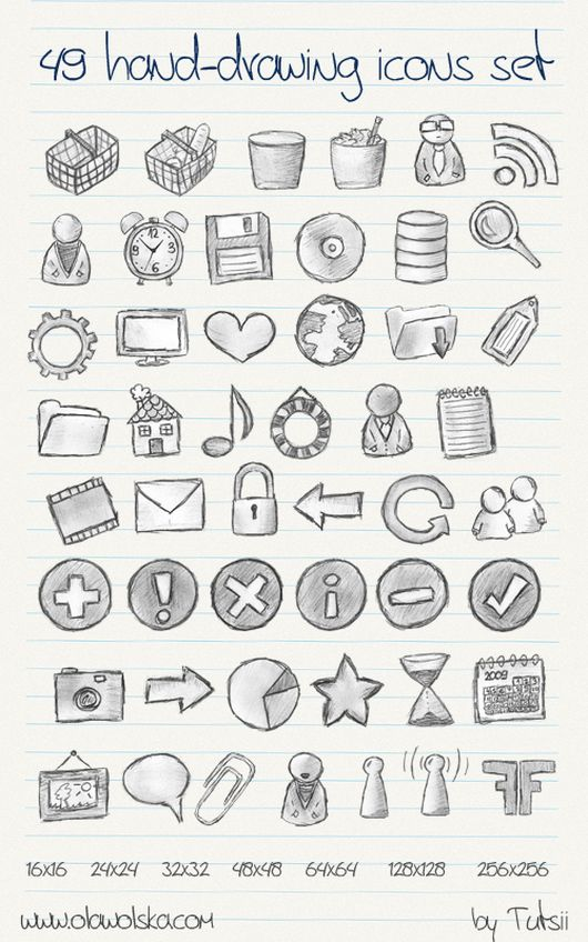 1921 30 Creative Free Hand Drawn Icon Sets