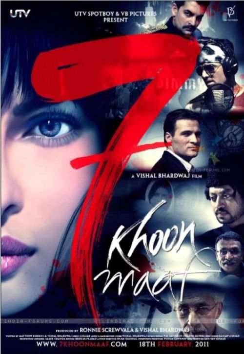 7 khoon maaf 30 Best Examples of Bollywood Movie Posters