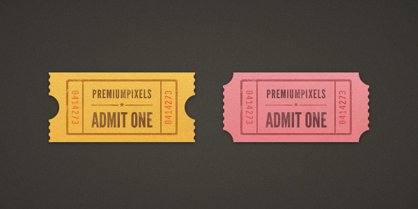 Admit One Ticket Stubs 50 Stunning Pixel Perfect PSD Freebies