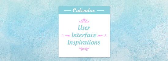 Calendar User Interface inspirations