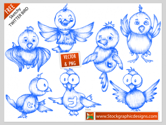 Free twitter bird icons e13002754599151 30 Creative Free Hand Drawn Icon Sets