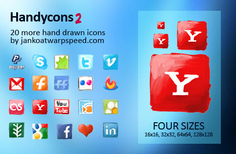 Handycons 2 30 Creative Free Hand Drawn Icon Sets