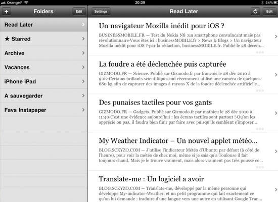 Instapaper 10 Great Productivity iPad Apps for Web Designers