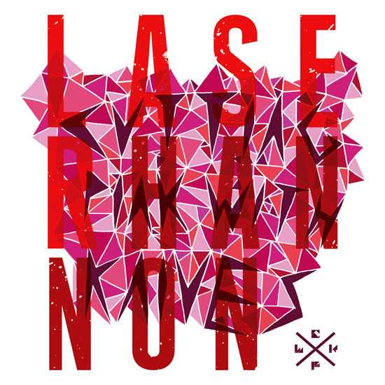 Laser Hannon1 40 Remarkable Band Based Album Cover Designs
