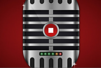 Microphone Recorder UI 50 Stunning Pixel Perfect PSD Freebies