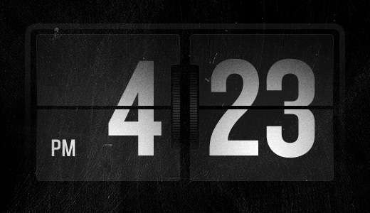 Retro Flip Clock 50 Stunning Pixel Perfect PSD Freebies