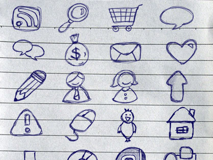 Sketchy Web Icons 30 Hand Drawn Icon Pack 30 Creative Free Hand Drawn Icon Sets