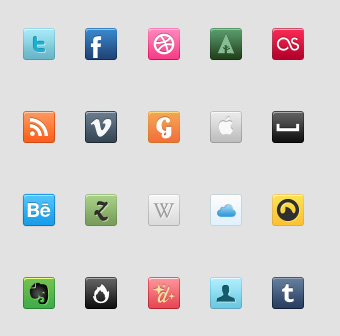 Social Icons 50 Stunning Pixel Perfect PSD Freebies