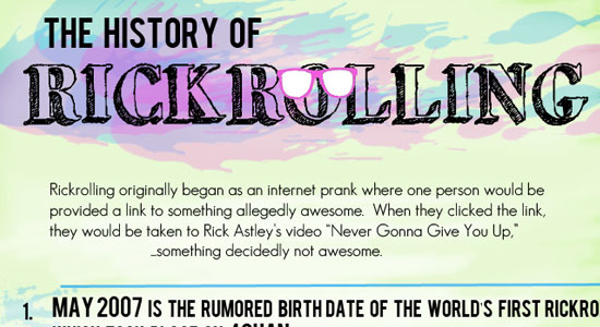 The History of RickRolling 55 Striking Data Visualization and Infographic Poster Designs