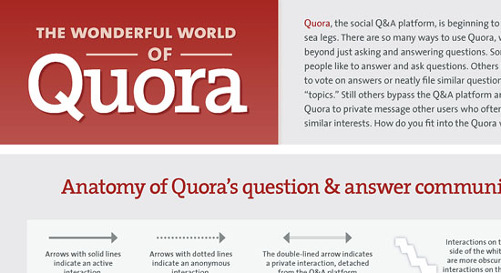The Wonderful World Of Quora 55 Striking Data Visualization and Infographic Poster Designs