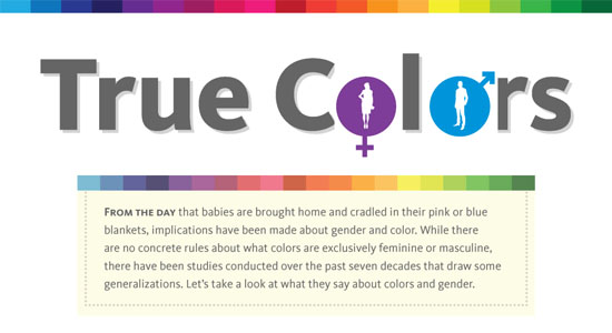 True Colors – Breakdown of Color Preferences by Gender 55 Striking Data Visualization and Infographic Poster Designs