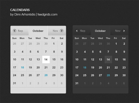 calendars 11 60 User Interface Calendar Inspirations and Downloads