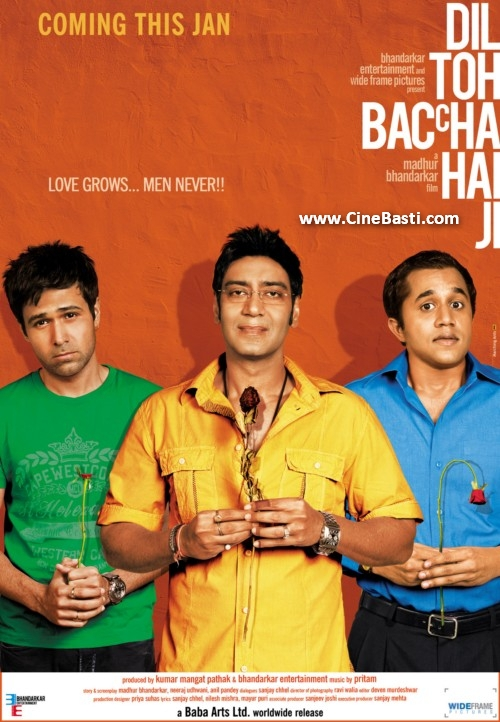 dil toh baccha hai ji movie poster  30 Best Examples of Bollywood Movie Posters