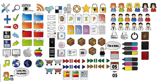 free hand drawn icon set 411 30 Creative Free Hand Drawn Icon Sets
