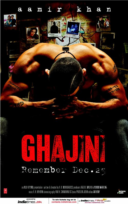 ghajini 30 Best Examples of Bollywood Movie Posters