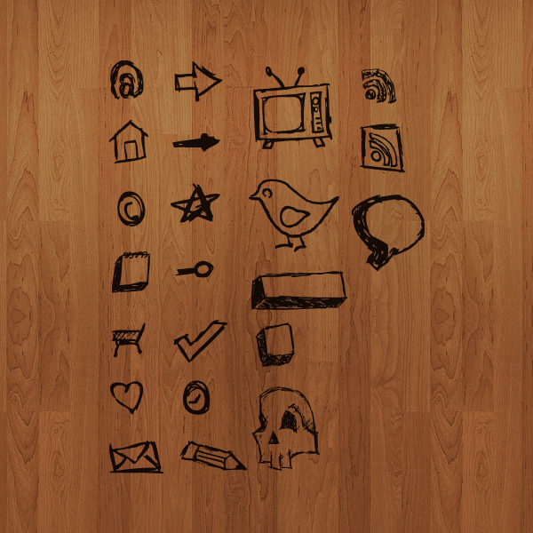 hand drawn icons1 30 Creative Free Hand Drawn Icon Sets