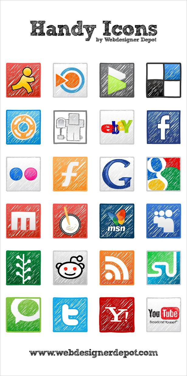 handy icons1 30 Creative Free Hand Drawn Icon Sets | Inspirationfeed.com