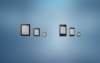 iPad and iPhone icons 50 Stunning Pixel Perfect PSD Freebies