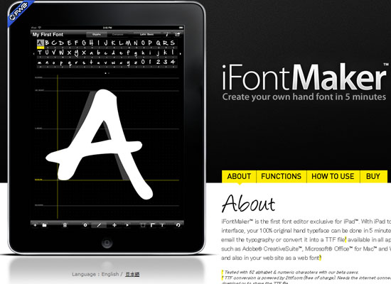 ifontmaker 10 Great Productivity iPad Apps for Web Designers