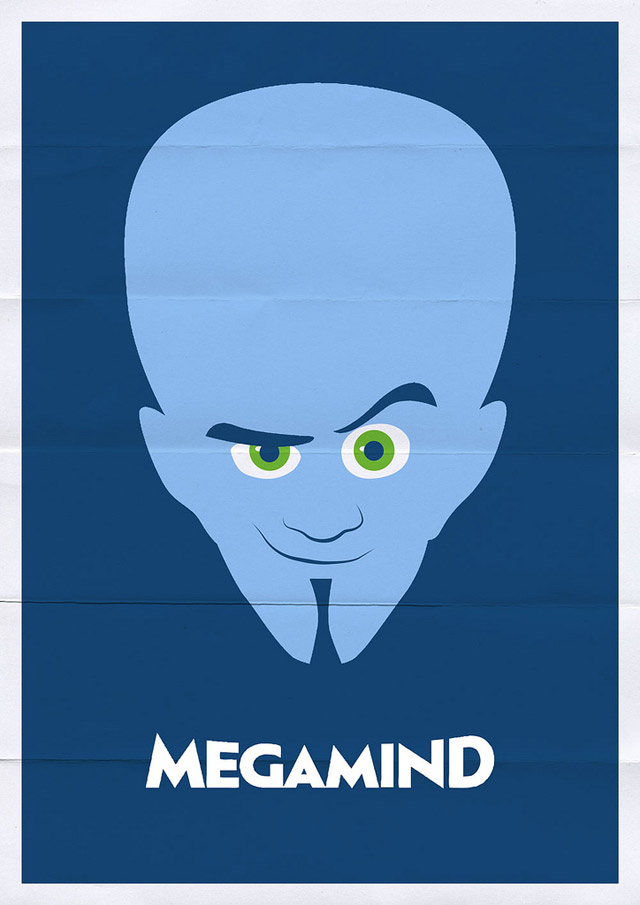 megamind1 70 Powerful Examples of Minimal Movie Poster Designs