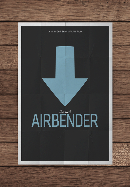 mockupairbenderpng 550x7911 70 Powerful Examples of Minimal Movie Poster Designs