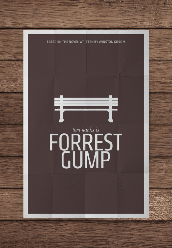 mockupforrestgumppng 550x7911 70 Powerful Examples of Minimal Movie Poster Designs