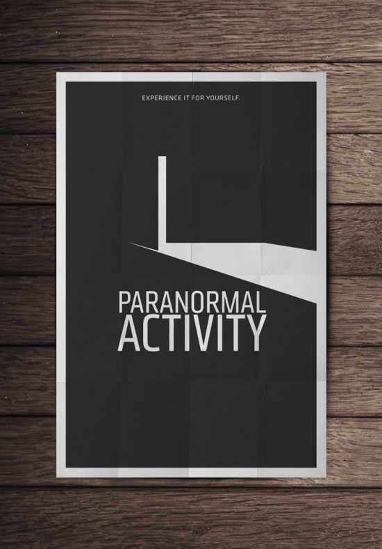mockupparanormalactivity 550x7891 70 Powerful Examples of Minimal Movie Poster Designs