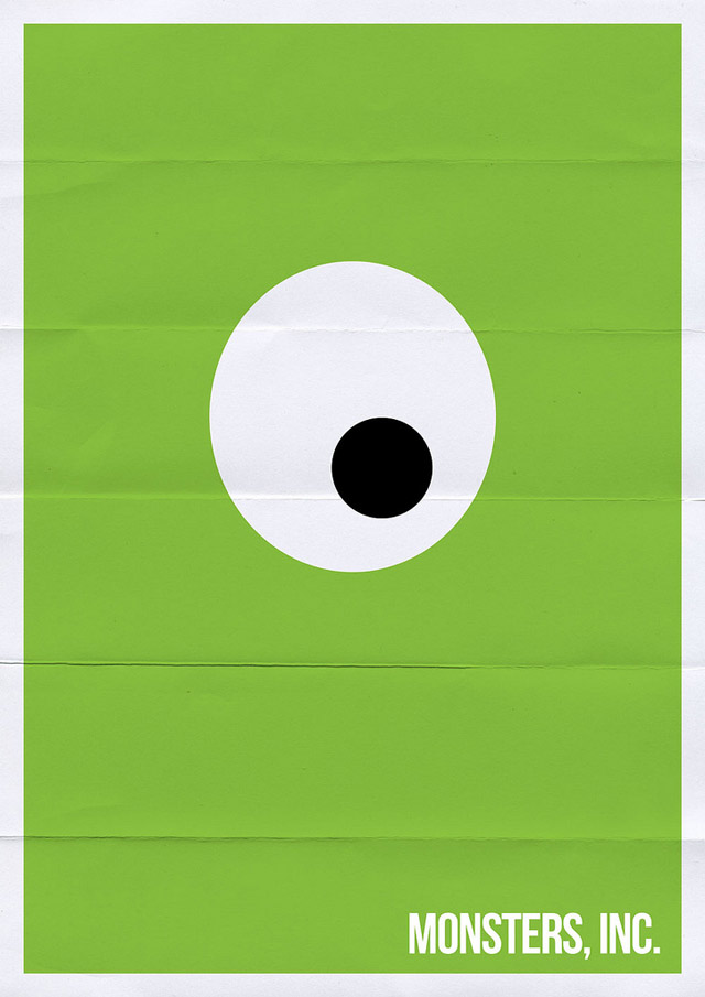 monsters inc 211 70 Powerful Examples of Minimal Movie Poster Designs