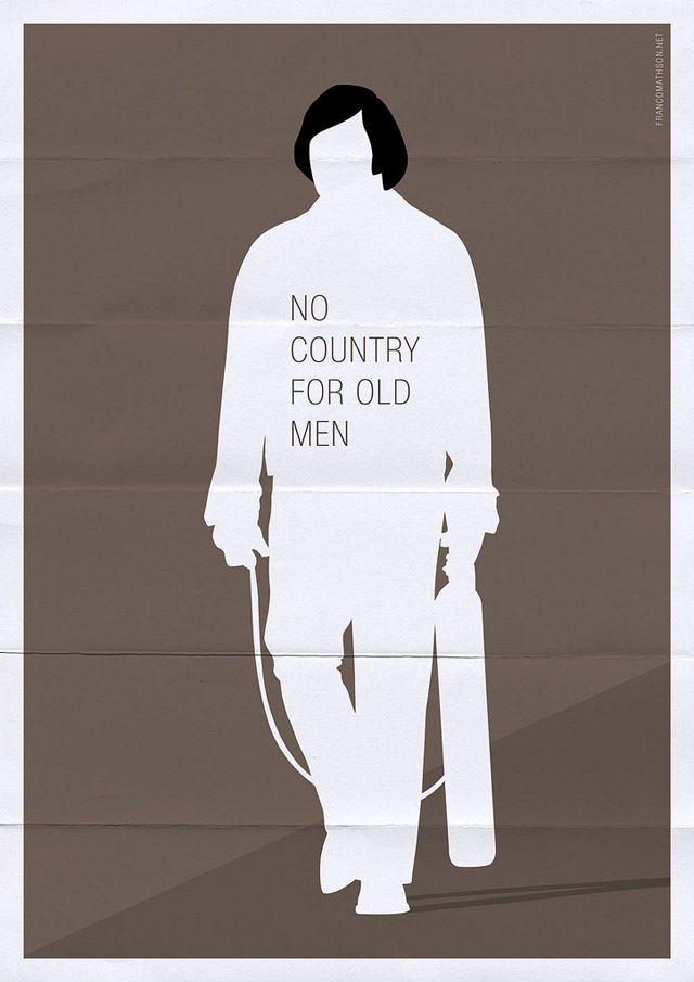 no country for old men1 70 Powerful Examples of Minimal Movie Poster Designs