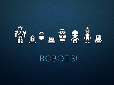 robots1 50 Stunning Pixel Perfect PSD Freebies