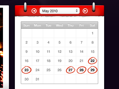 shot 12749940921 60 User Interface Calendar Inspirations and Downloads
