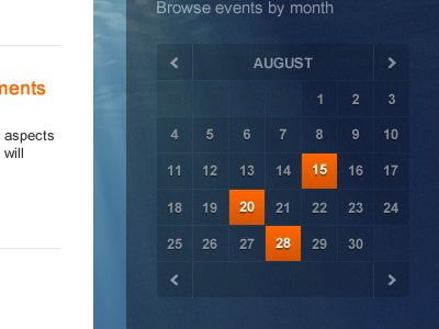 shot 12819752221 60 User Interface Calendar Inspirations and Downloads