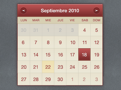 shot 12828550871 60 User Interface Calendar Inspirations and Downloads