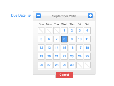 shot 12829372741 60 User Interface Calendar Inspirations and Downloads