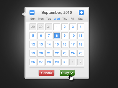 shot 12835451091 60 User Interface Calendar Inspirations and Downloads