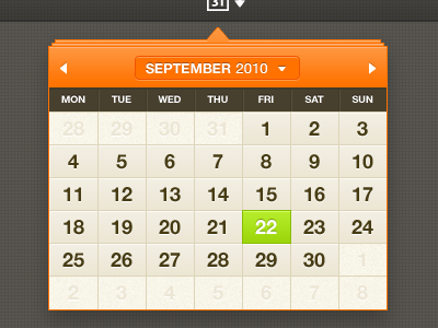 shot 12859623441 60 User Interface Calendar Inspirations and Downloads