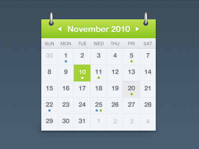 shot 12886988431 60 User Interface Calendar Inspirations and Downloads