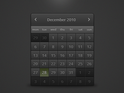 shot 12931373251 60 User Interface Calendar Inspirations and Downloads