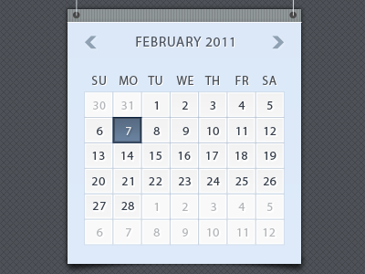 shot 12958980661 60 User Interface Calendar Inspirations and Downloads