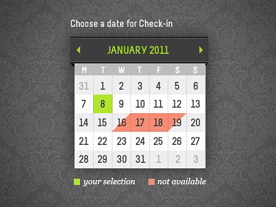 shot 12987356171 60 User Interface Calendar Inspirations and Downloads