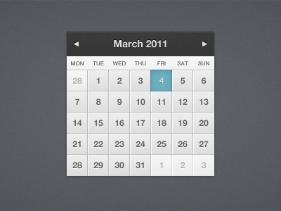 shot 12992484841 60 User Interface Calendar Inspirations and Downloads