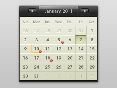shot 13000812571 60 User Interface Calendar Inspirations and Downloads