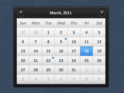 shot 13007954881 60 User Interface Calendar Inspirations and Downloads
