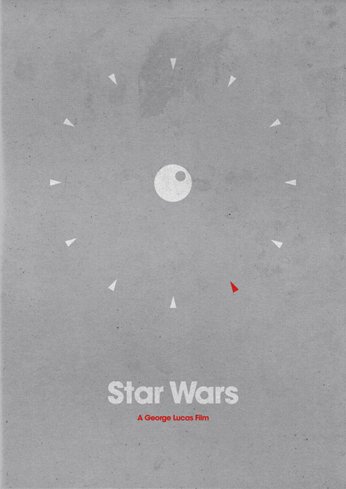 wars1 70 Powerful Examples of Minimal Movie Poster Designs