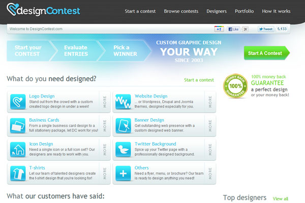 Design contest website Review: DesignContest.com Not Your Typical Crowdsourcing Site