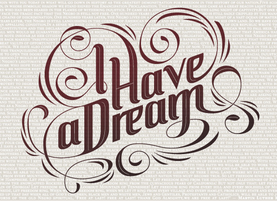 IhaveaDream l1 40 Remarkable Examples Of Typography Design #5
